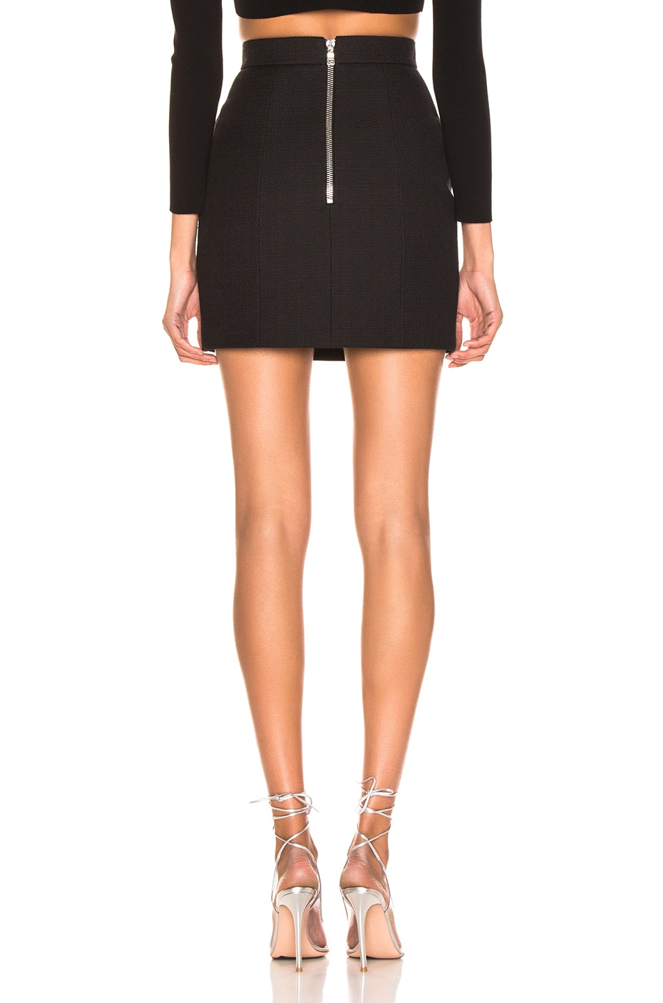 Image 3 of BALMAIN High Waist Skirt in Noir
