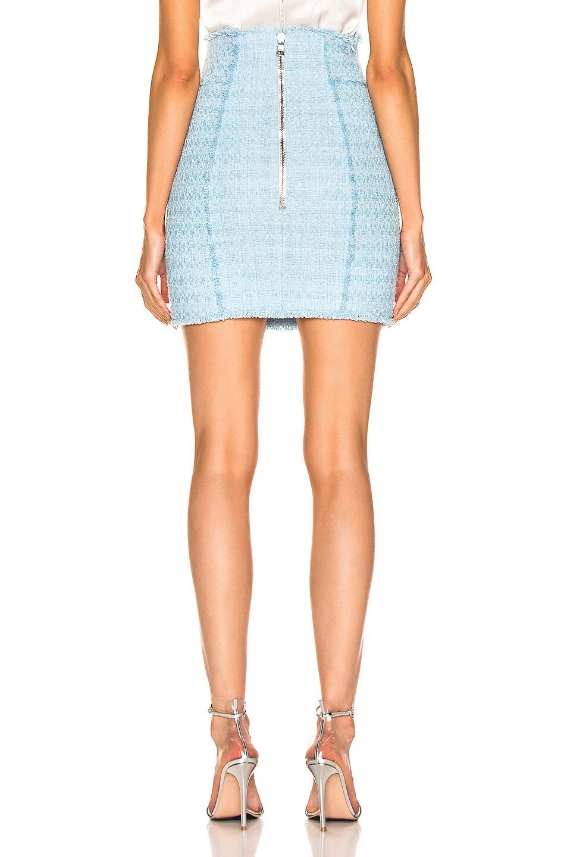 Image 3 of BALMAIN High Waisted Skirt in Blue