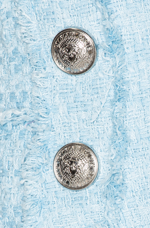 Image 5 of BALMAIN High Waisted Skirt in Blue