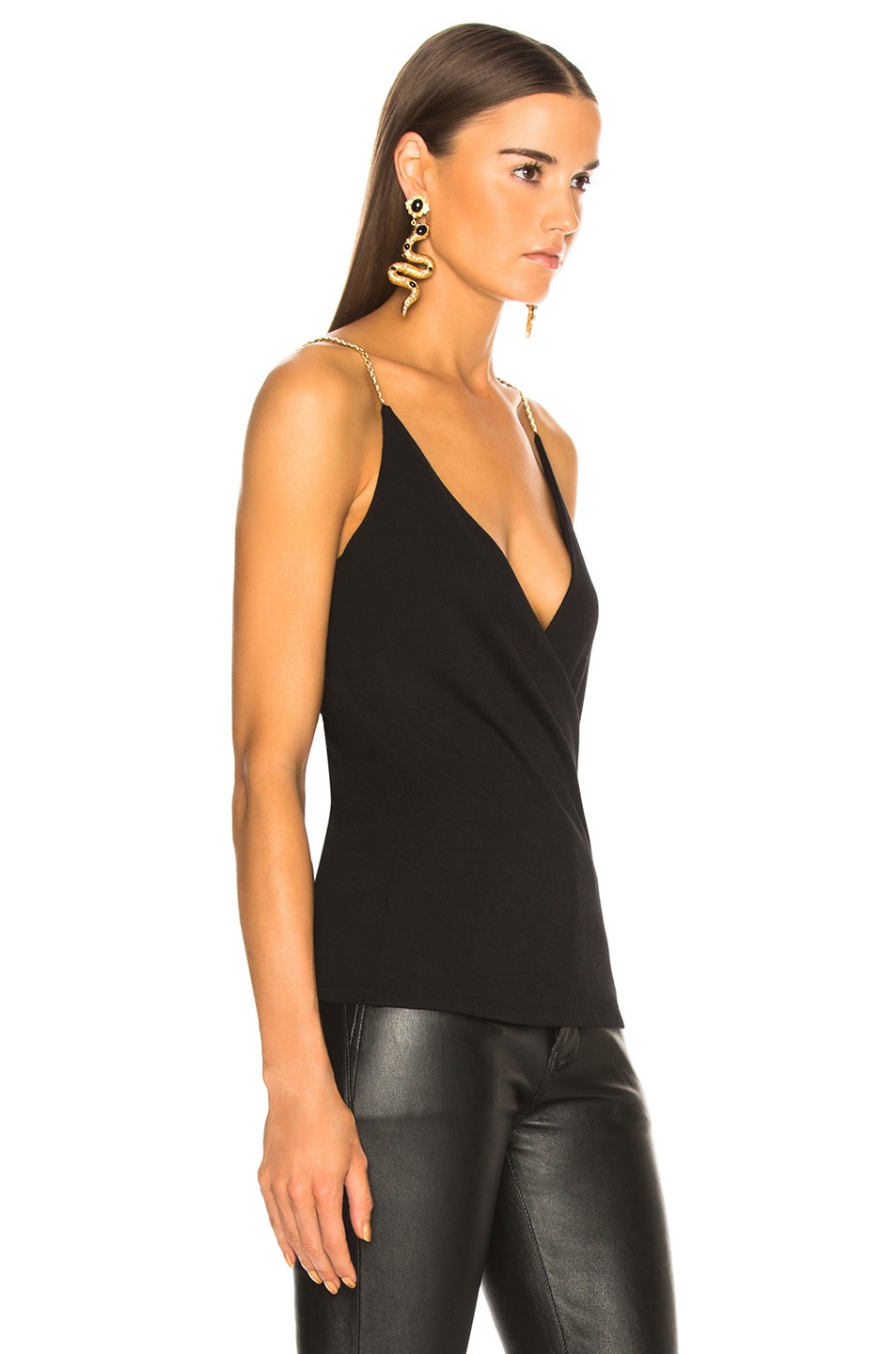 Image 2 of BALMAIN Chain Strap Tank in Black