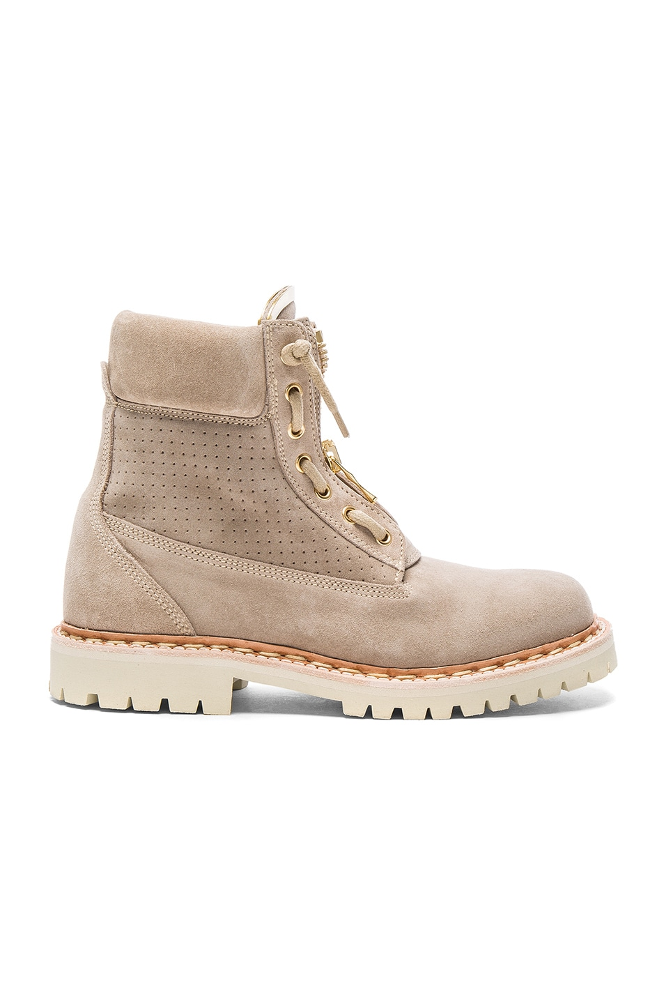Image 1 of BALMAIN Suede Taiga Boots in Beige