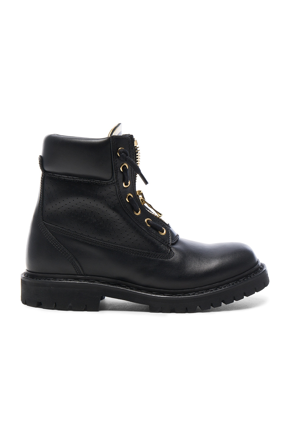 Image 1 of BALMAIN Leather Taiga Boots in Black