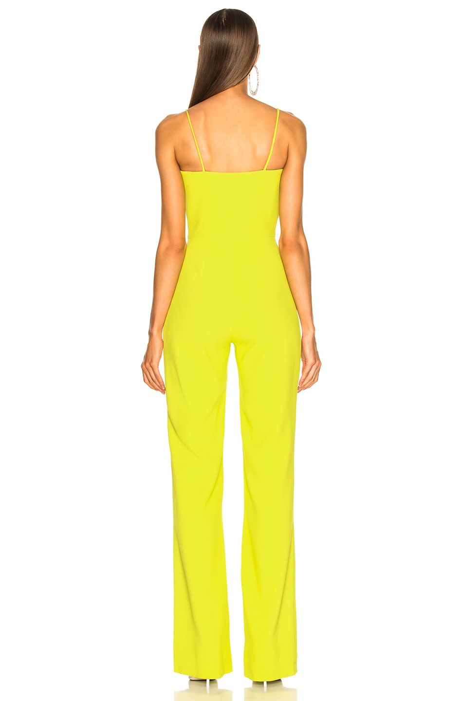 Image 3 of Brandon Maxwell Stretch Crepe Sweetheart Jumpsuit in Lime