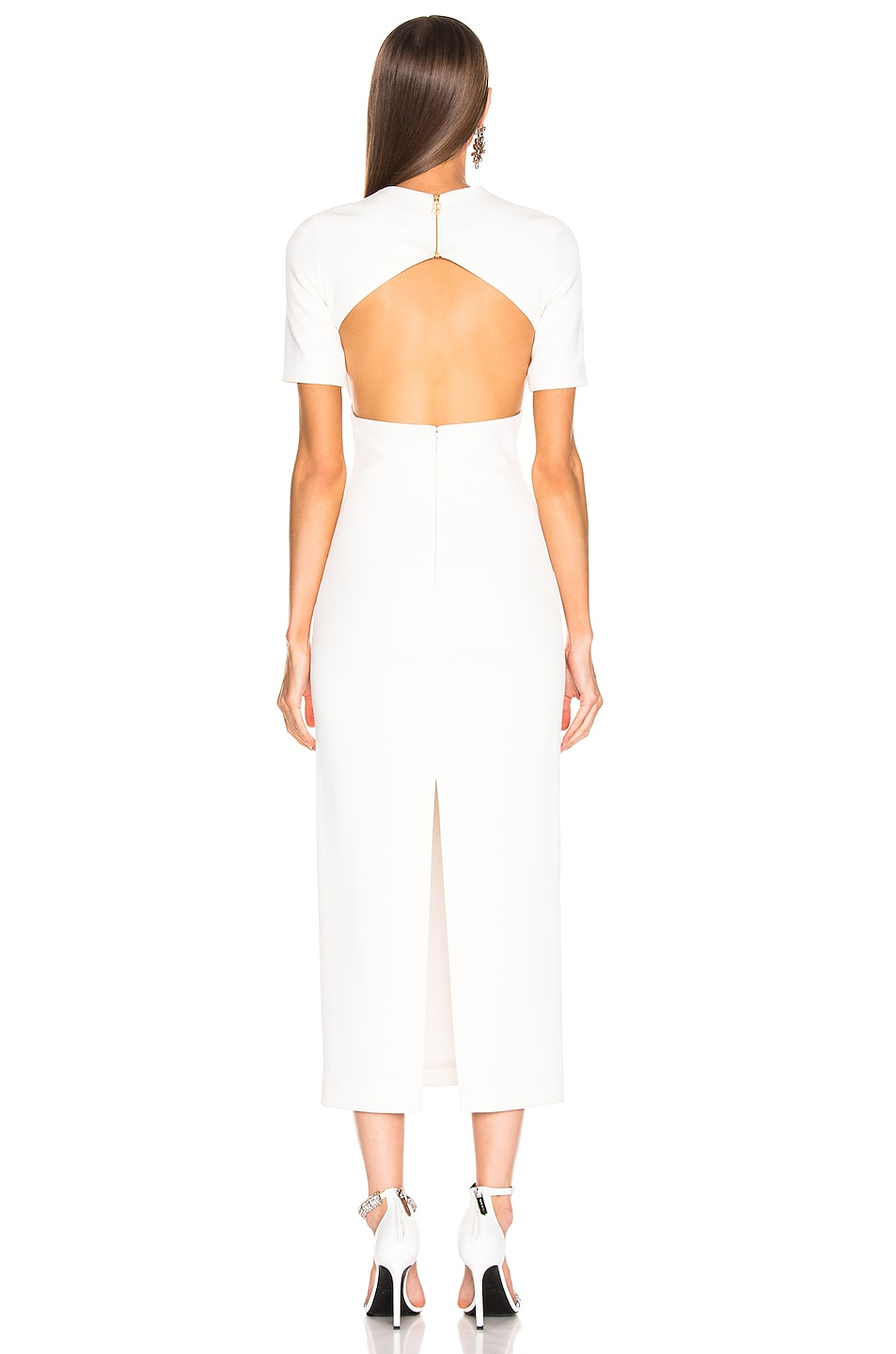 Image 3 of Brandon Maxwell Backless Bustier Sheath Dress in Ivory
