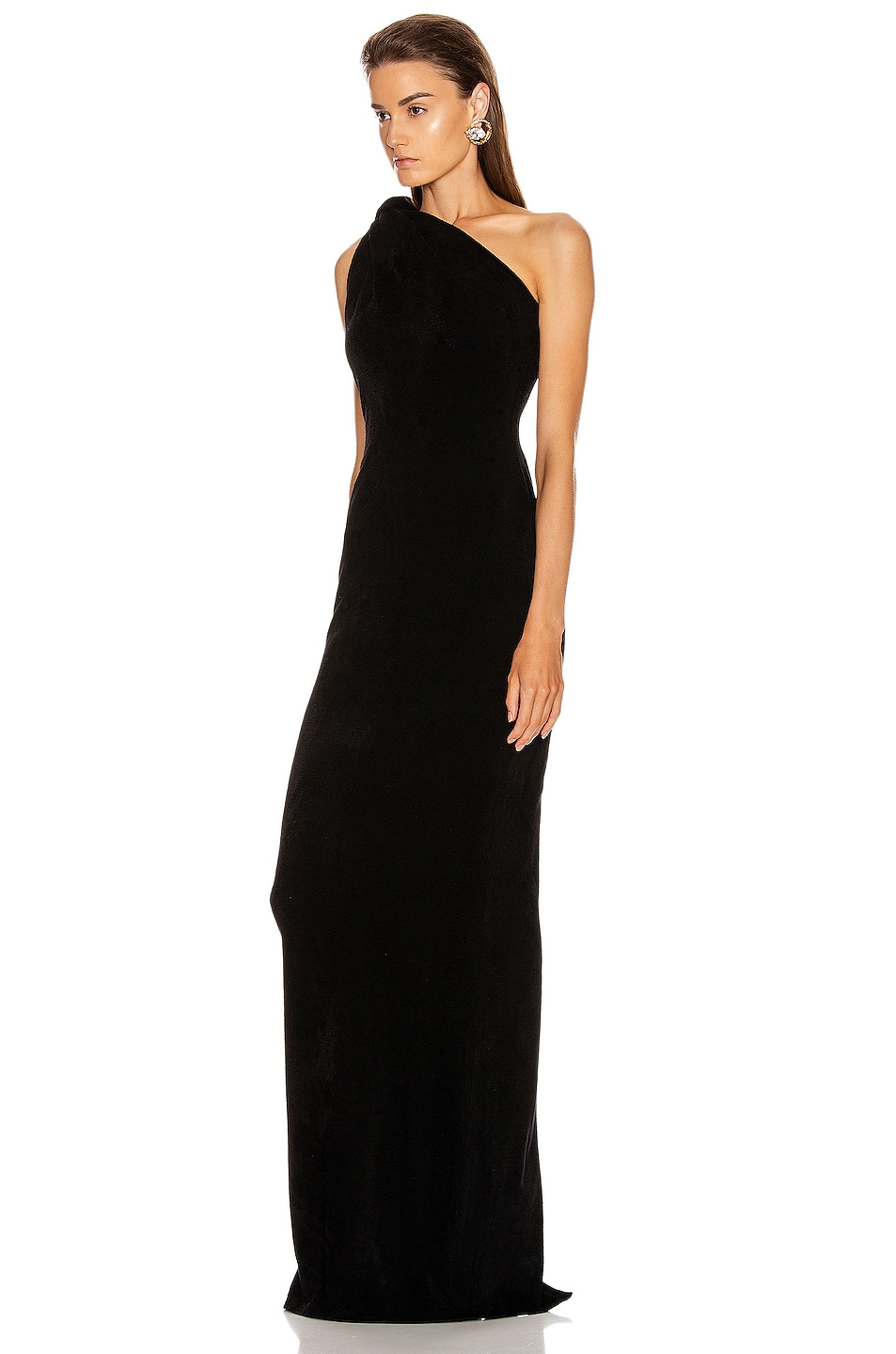 Image 3 of Brandon Maxwell Knotted Top Dress in Black