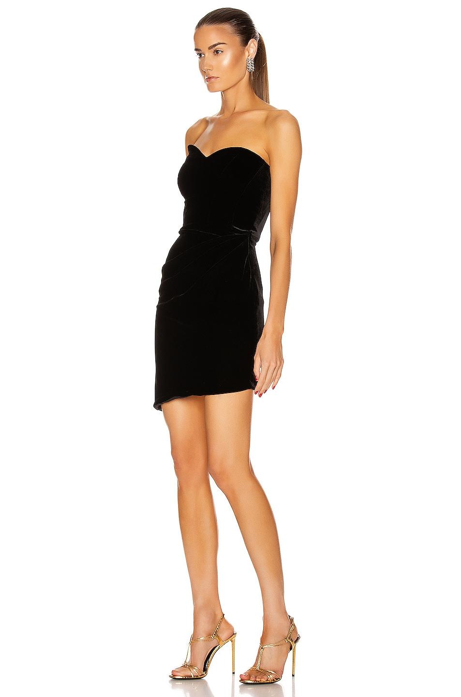 Image 3 of Brandon Maxwell Bustier Strapless Mini Dress in Black
