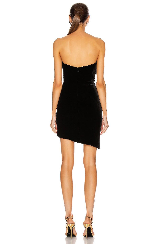Image 4 of Brandon Maxwell Bustier Strapless Mini Dress in Black