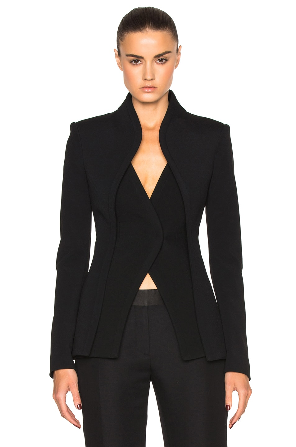 Image 1 of Brandon Maxwell Layer Suit Jacket in Black