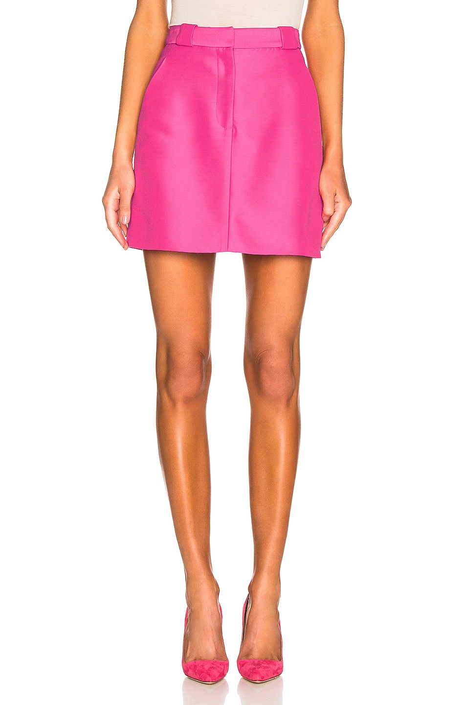 Image 1 of Brandon Maxwell Mini Skirt in Pink