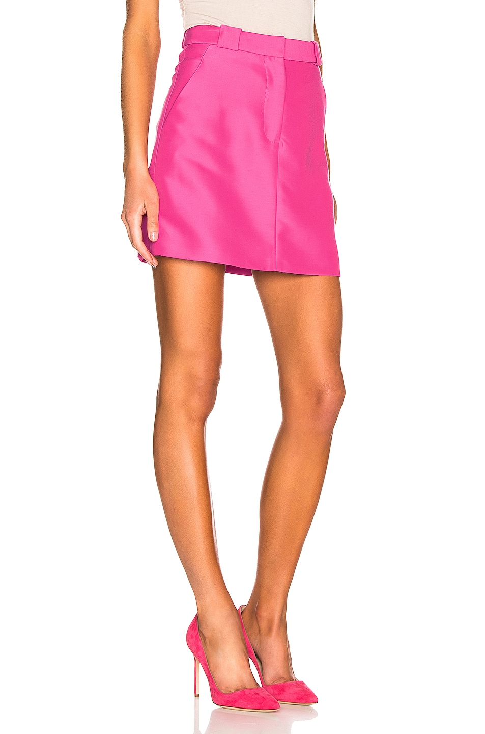 Image 2 of Brandon Maxwell Mini Skirt in Pink