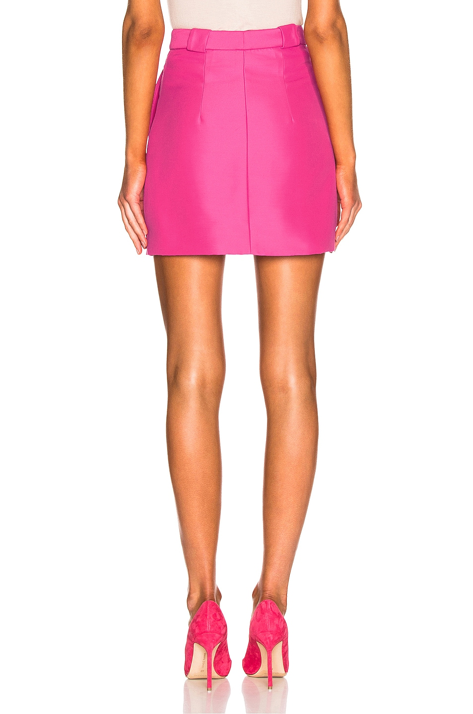 Image 3 of Brandon Maxwell Mini Skirt in Pink