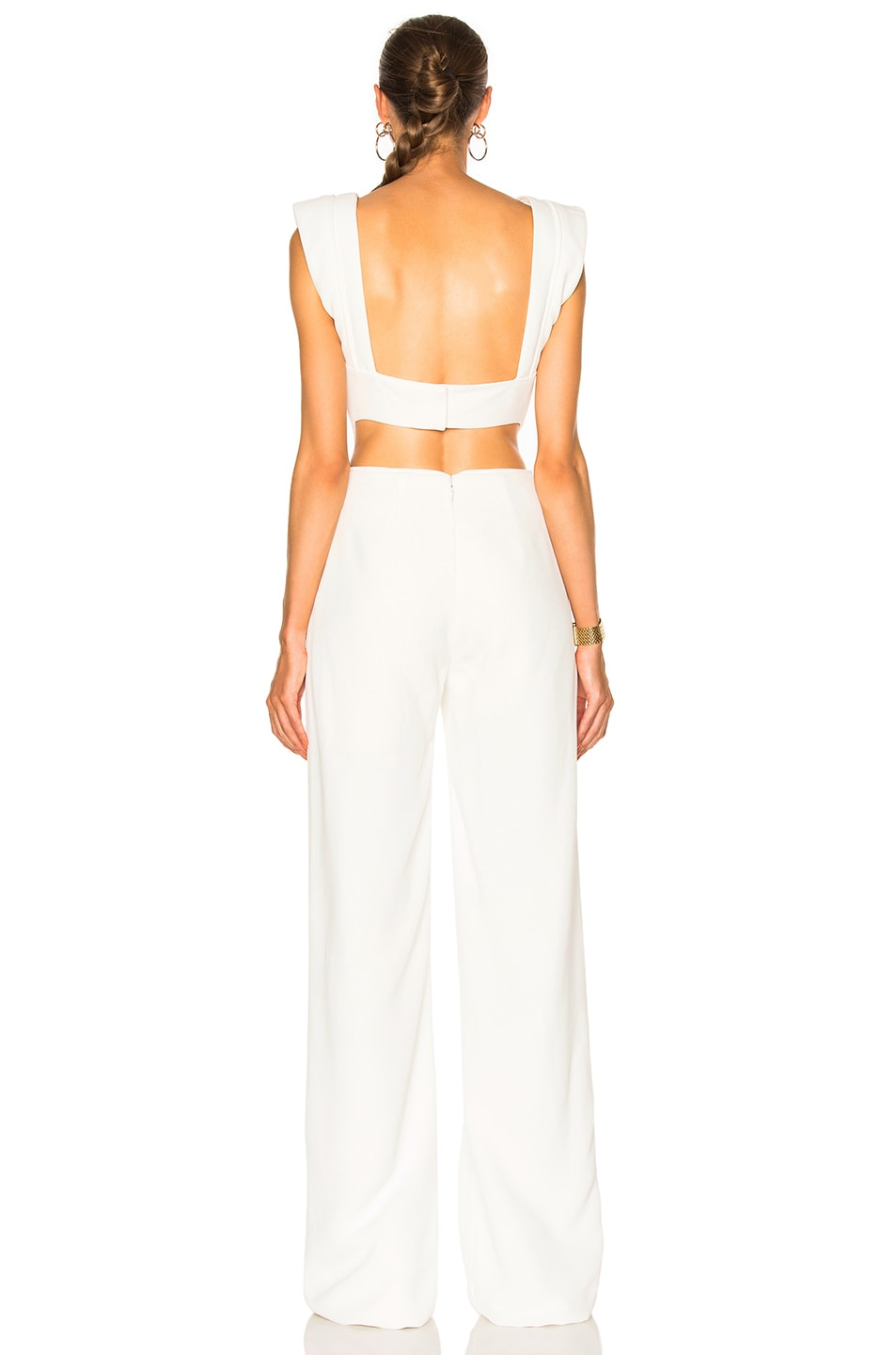 Image 4 of Brandon Maxwell V Neck Jumpsuit in White