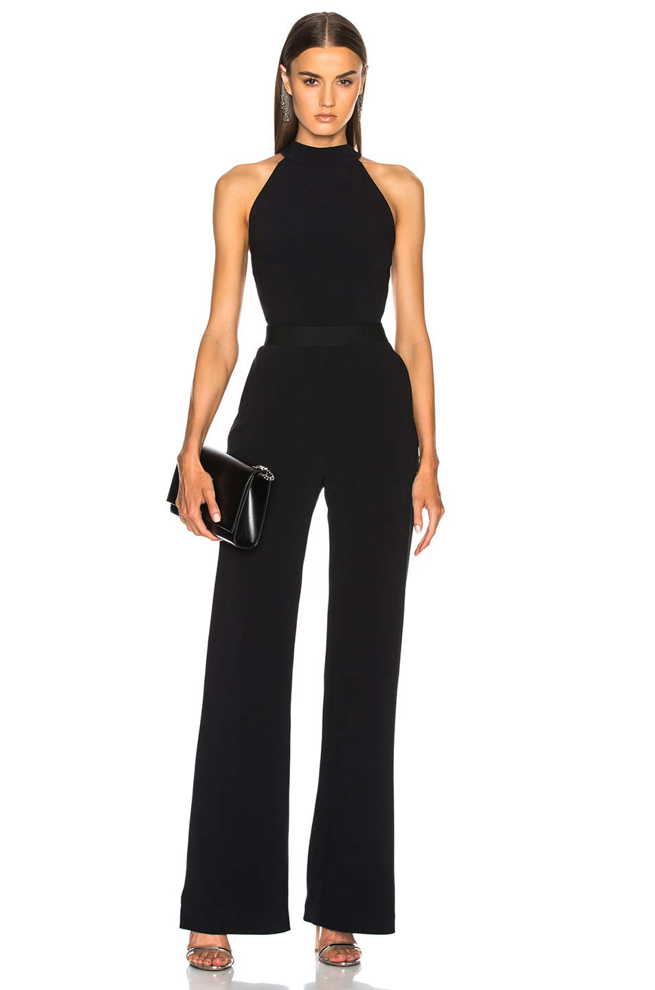 Image 1 of Brandon Maxwell Bow Back Jumpsuit in Black