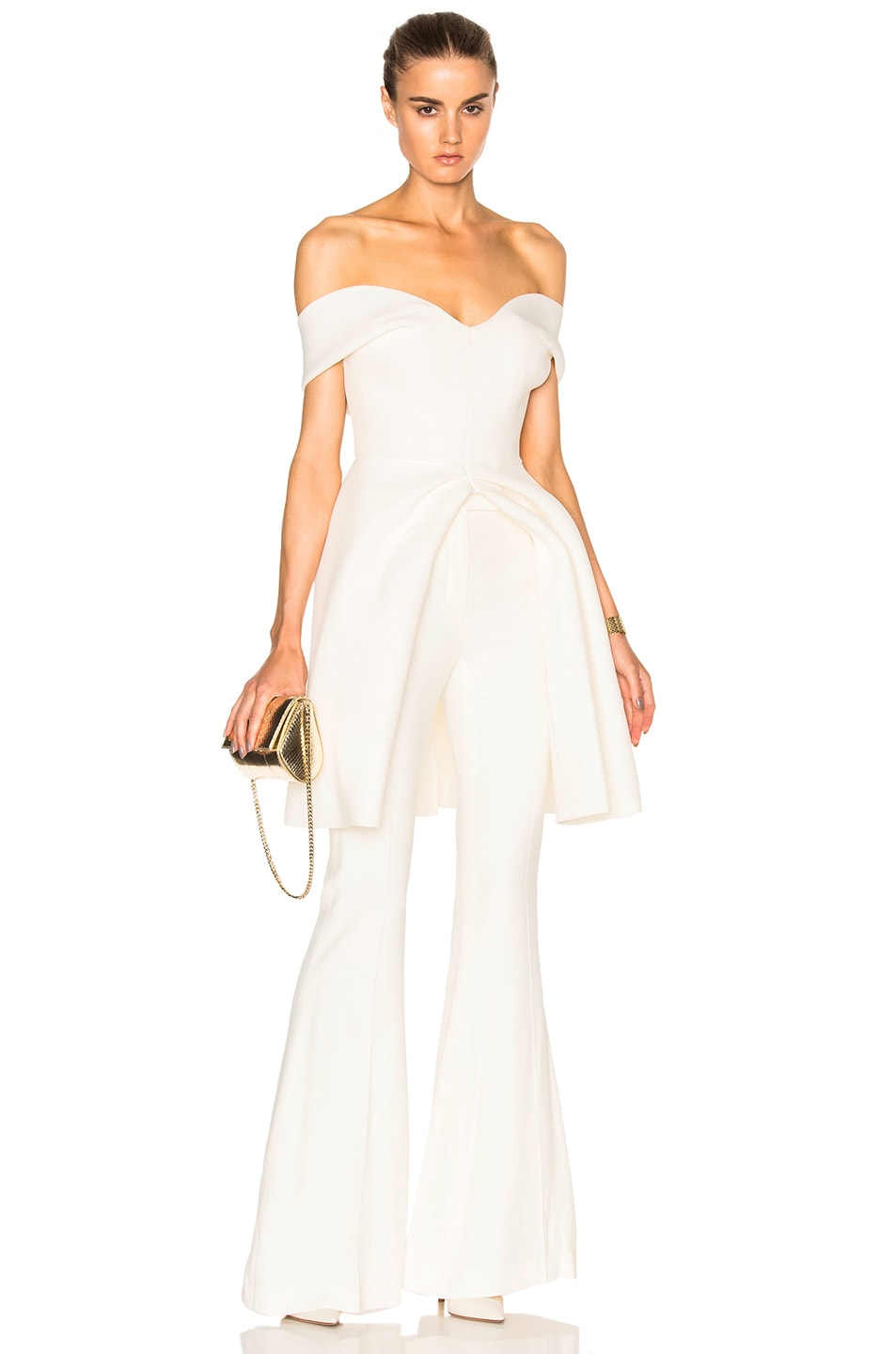 c7f67469e5c3d4 Image 1 of Brandon Maxwell Open Peplum Top in Ivory