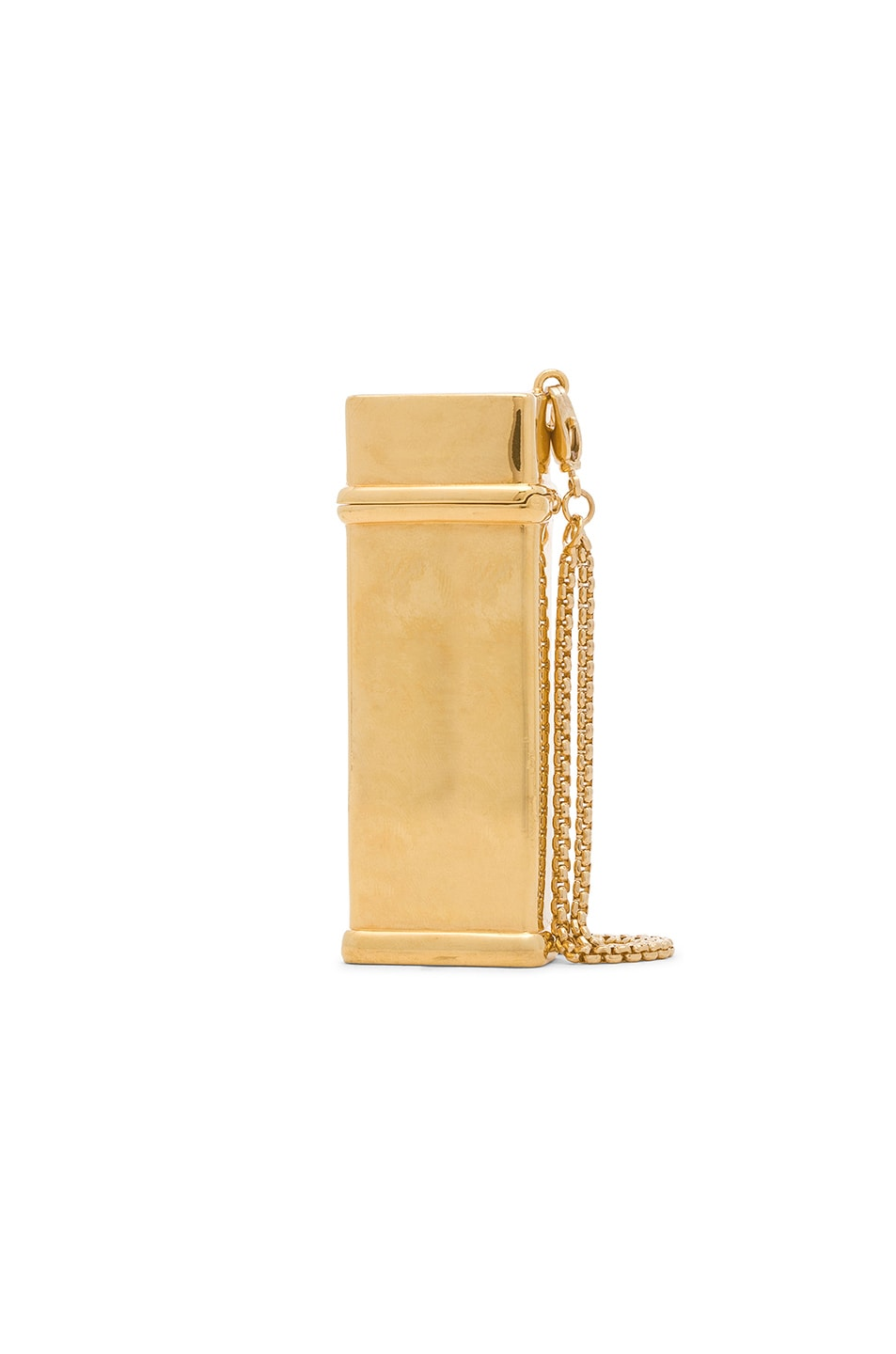 Image 1 of Brandon Maxwell Brass Lighter Case in Gold