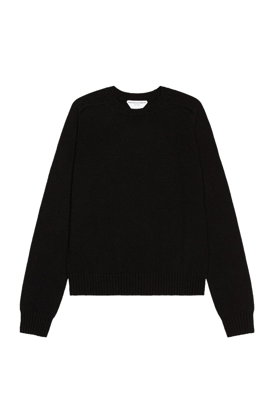 Image 1 of Bottega Veneta Crewneck Sweater in Black