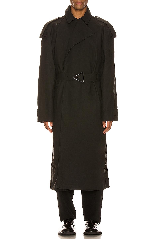 Image 1 of Bottega Veneta Trench Coat in Off Black