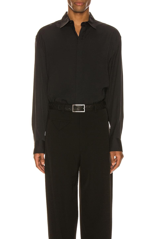 Image 1 of Bottega Veneta Button Up Long Sleeve Shirt in Nero
