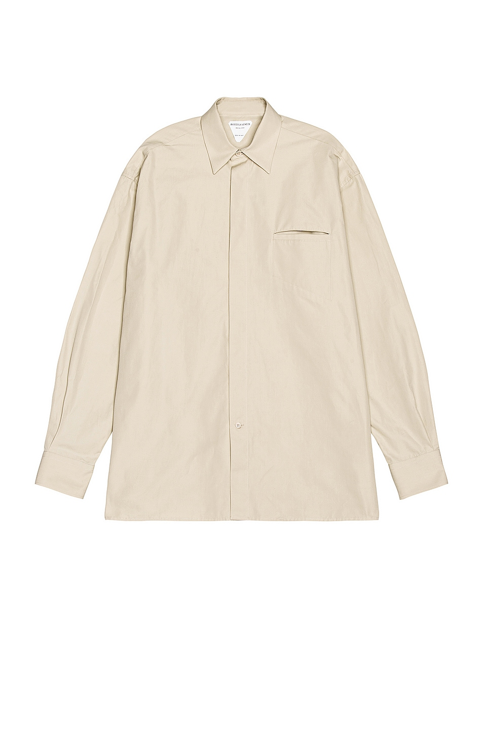 Image 1 of Bottega Veneta Long Sleeve Button Down in Wax