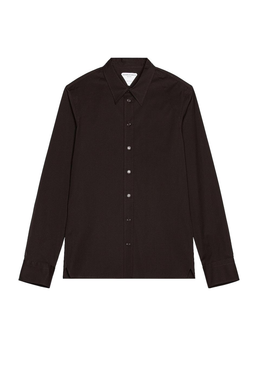 Image 1 of Bottega Veneta Long Sleeve Button Down in Fondente