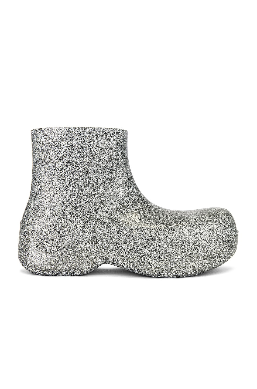 Image 1 of Bottega Veneta Sparkle Puddle Boot in Silver