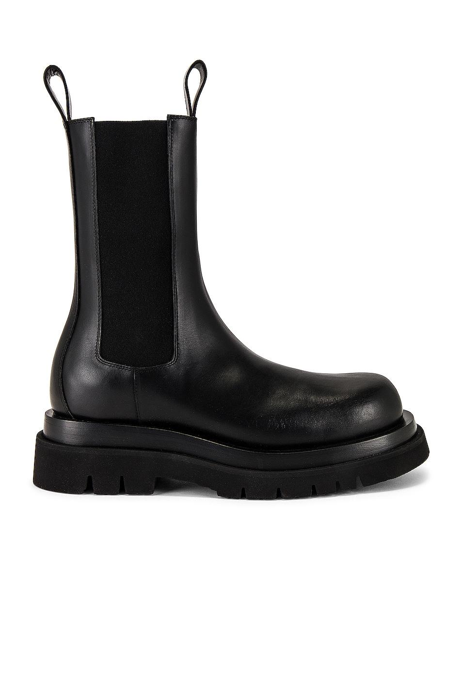 Image 1 of Bottega Veneta Storm Cuir Boot in Nero