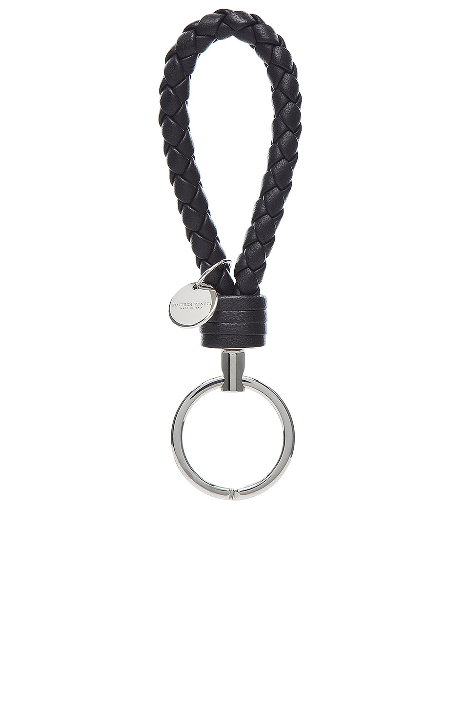 Image 1 of Bottega Veneta Key Ring in Black