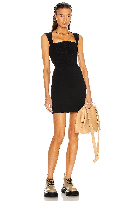 Image 1 of Bottega Veneta Technical Viscose Silk Dress in Black