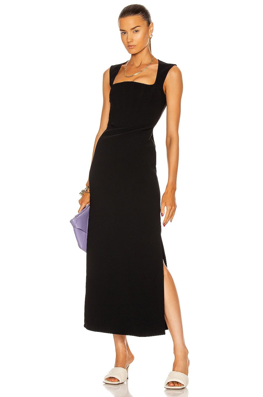 Image 1 of Bottega Veneta Compact Stretch Cady Dress in Black