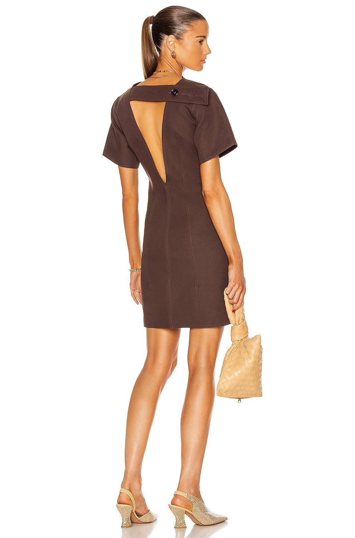 Image 1 of Bottega Veneta Open Back Mini Dress in Burgundy