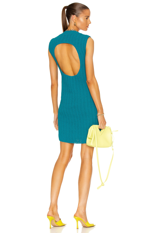 Image 1 of Bottega Veneta Aran Knit Dress in Duck Green