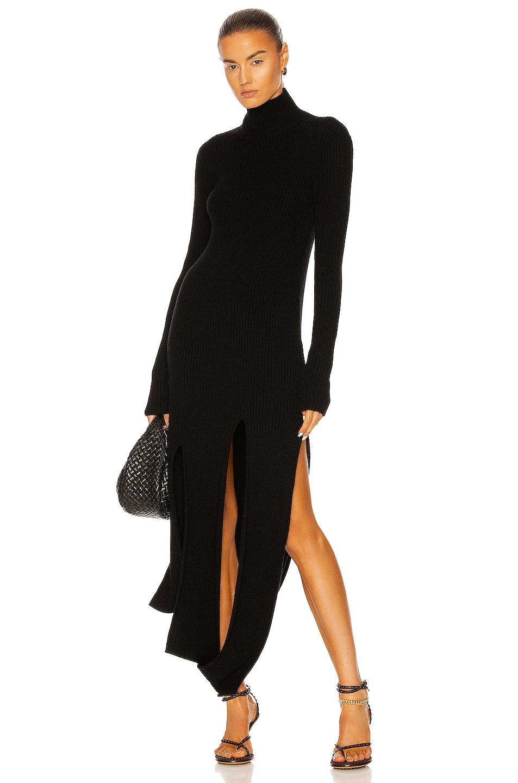 Image 1 of Bottega Veneta Slash Rib Dress in Black