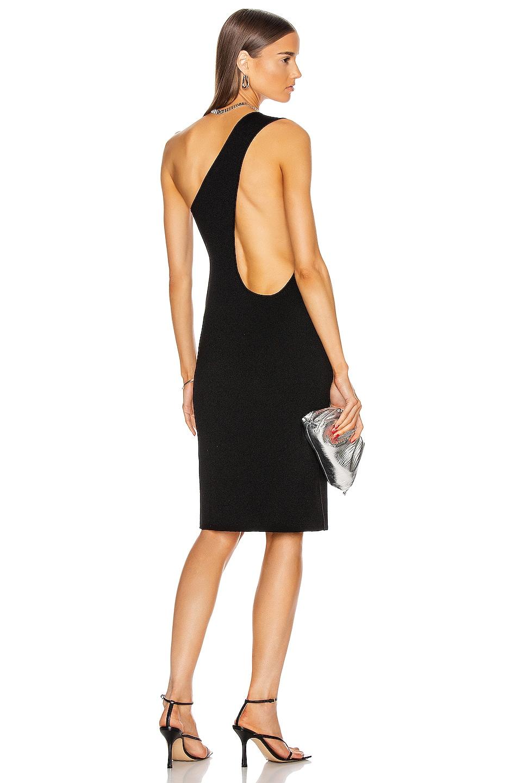 Image 1 of Bottega Veneta One Shoulder Dress in Black