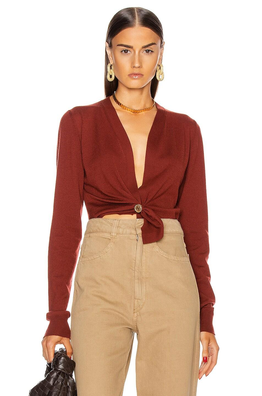 Image 1 of Bottega Veneta Cashmere Twist Sweater in Rust