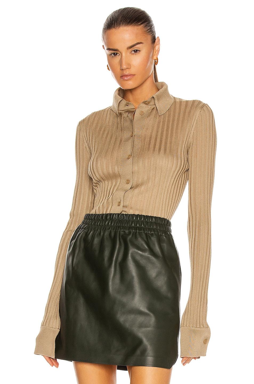 Image 1 of Bottega Veneta Light Weight Silk Rib Sweater in Beige