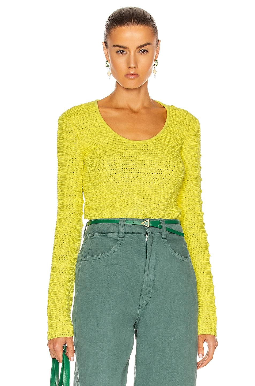 Image 1 of Bottega Veneta Pom Pom Sweater in Limoncello