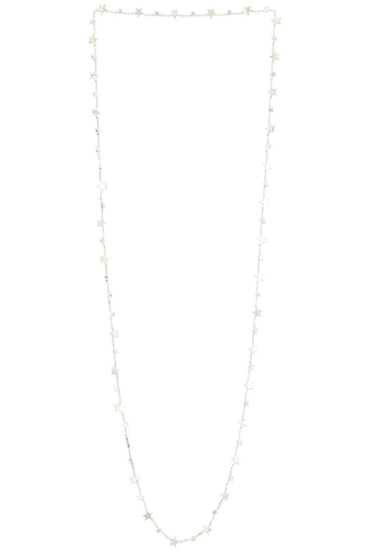 Image 1 of Bottega Veneta Long Star Necklace in Silver