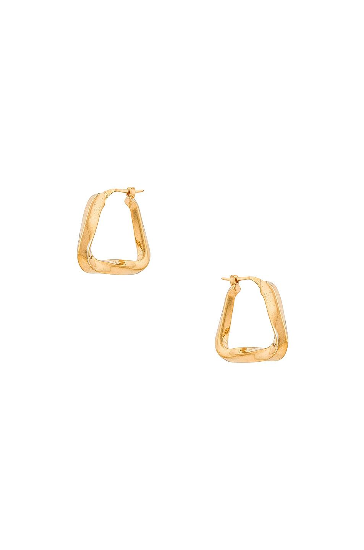 Image 1 of Bottega Veneta Triangle Earrings in Yellow Gold