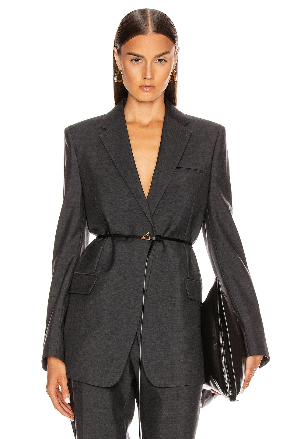 Image 1 of Bottega Veneta Tailored Blazer in Charcoal Melange
