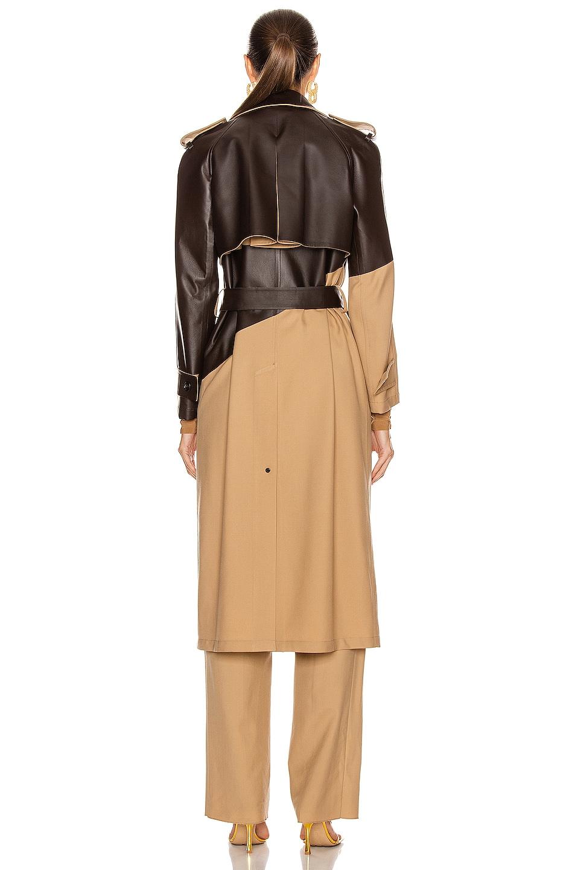 Image 4 of Bottega Veneta Colorblock Belted Trench Coat in Camel