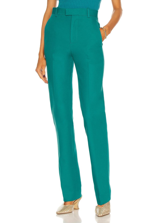 Image 1 of Bottega Veneta Double Cotton Canvas Pant in Duck Green