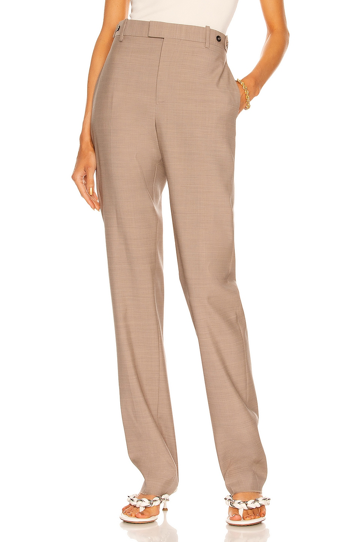 Image 1 of Bottega Veneta Woven Trouser in Biscuit Melange