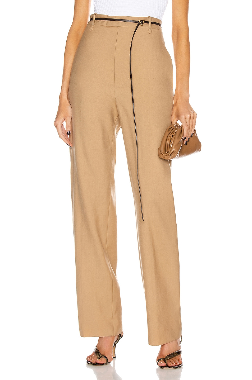 Image 1 of Bottega Veneta Tailored Pant in Camel