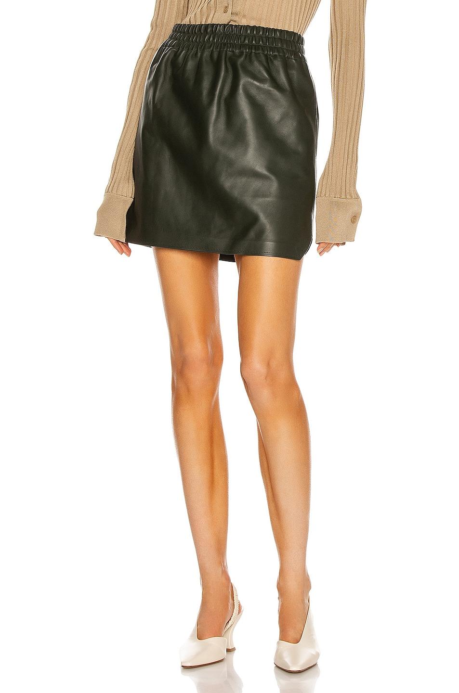 Image 1 of Bottega Veneta Semiplonge Lamb Skirt in Camping