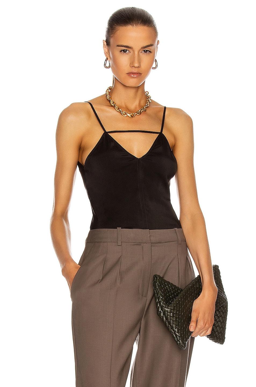 Image 1 of Bottega Veneta Sleeveless Triangle Top in Fondente