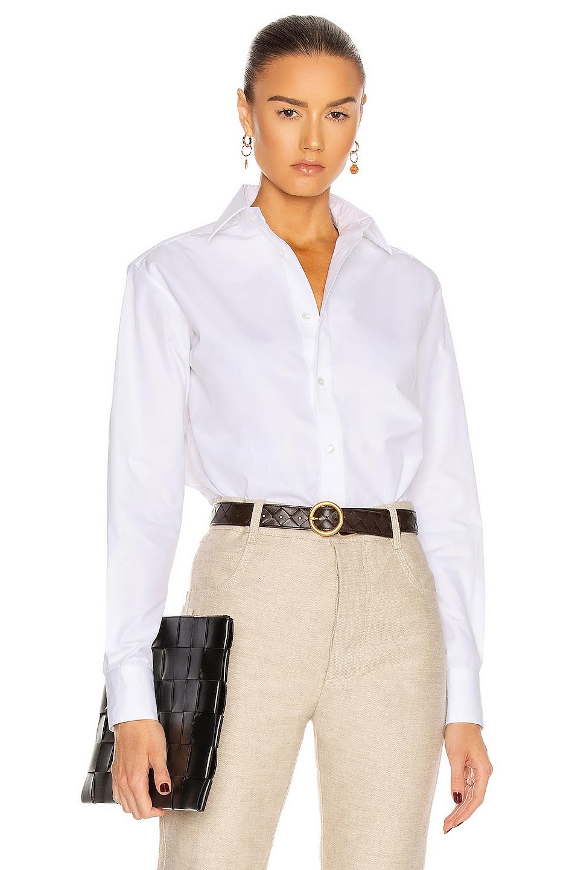 Image 1 of Bottega Veneta Organic Poplin Shirt in White