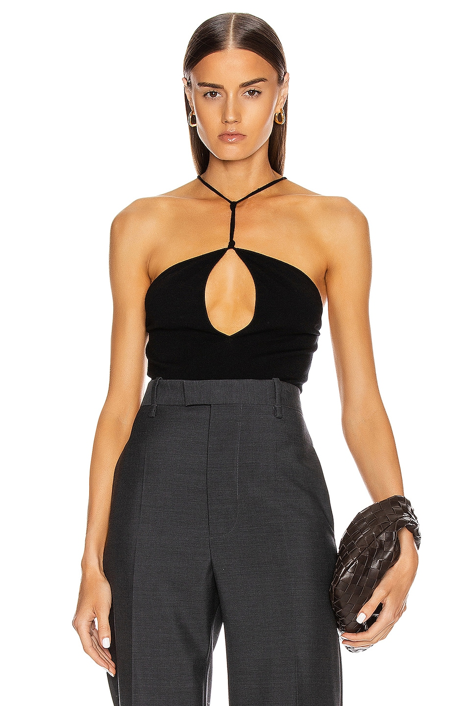 Image 1 of Bottega Veneta Keyhole Tank Top in Black