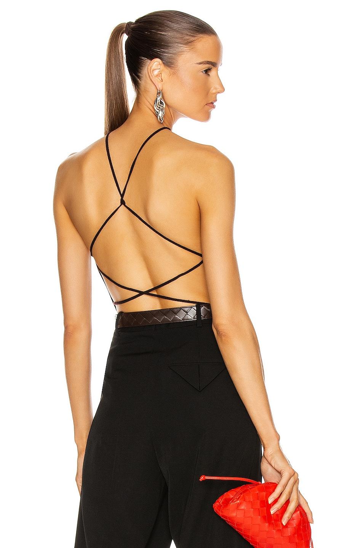 Image 1 of Bottega Veneta Sleeveless Bodysuit in Chocolate
