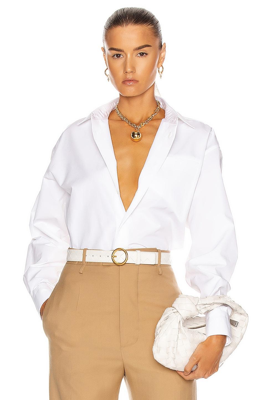 Image 1 of Bottega Veneta Button Down Top in White