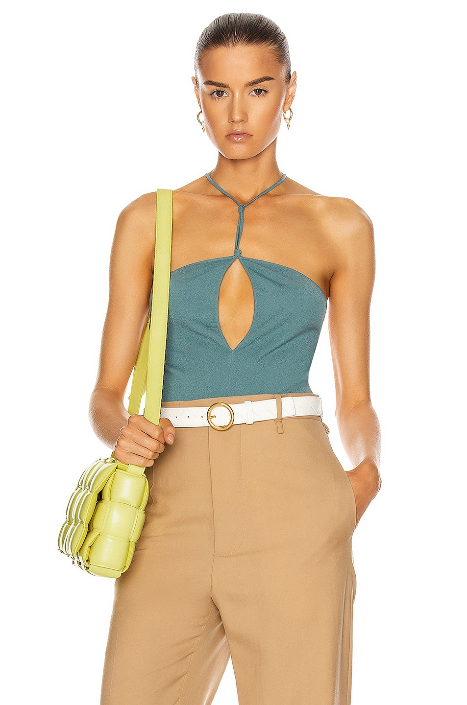 Image 1 of Bottega Veneta Sleeveless Bodysuit in Storm